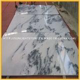 Nouveau marbre blanc poli poli pour les comptoirs et les carreaux de sol