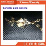 0.2mm 0.3mm 0.5mm 1mm Ausschnitt-Maschine des Stärken-Goldsilber-Kupfer-Blatt-6040 Minilaser-9060