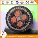 4 ОСНОВНЫХ XLPE 0.6/1кв изолированных медных бронированные подземных электрического кабеля