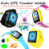 Gran capacidad de memoria 4GB del sistema Android WiFi GPS Smart Kids Watch (D18S)