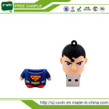 Привод пер USB супермена шаржа