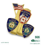 La polizia molle di New York dell'oro dello smalto del metallo Badge