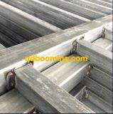 Recinzione tubolare d'acciaio del metallo della parte superiore piana