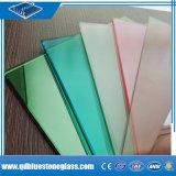 vidrio reflexivo del laminado gris del bronce del color de rosa del verde azul de 6.38m m