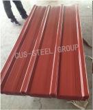 Feuille en acier de toit de couleur/plaque d'appui colorée en métal
