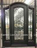 Porta de entrada único Dourado Portas de ferro para Villa