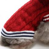 Vêtements rouges classiques d'animal familier de chandail d'animal familier pour des crabots et des chats