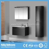 La dernière table de MDF de peinture à haute brillance Deux tiroirs courbes Grandes armoires à miroir sanitaires (PF127c)