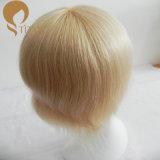 Recolocação curta loura do cabelo humano
