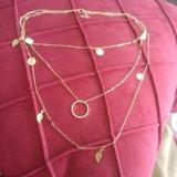 Новая серебряная цепь цвета выходит Multi ожерелье шкентеля слоя