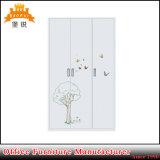 Ropa de acero de FAS-092 Almirah Almari 3 puertas armario Muebles de Dormitorio