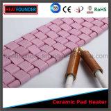 De aangepaste Flexibele Industriële Roze Ceramische Verwarmer van het Stootkussen