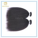 100% unverarbeitete natürliche Farben-peruanisches verworrenes gerades Jungfrau-Haar mit vollem Häutchen Wfpkks-001