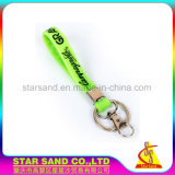 Luz por atacado Keychain do silicone, anel chave de borracha macio personalizado do logotipo