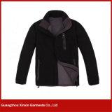 OEMの工場はカスタム設計するSoftshellの羊毛の灰色の人のジャケット(J76)を
