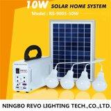 extérieur 10W solaire et système domestique avec la lumière 4 (RS9001)