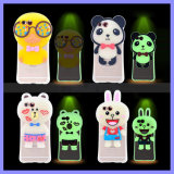 Cassa luminosa protettiva del telefono del fumetto 3D del silicone istantaneo del lampo per il manicotto più di iPhone 6s 6 con la sagola