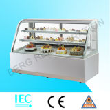 Холодильник индикации хлебопекарни с белым мрамором