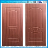 Pele moldada da porta da madeira compensada da noz folheado de madeira escuro natural