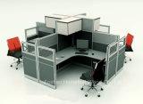Рабочая станция оптовой перегородки кабин офиса высокой модульная с шкафом внешней стороны (HF-YZ801)
