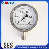 OEM 4 pouces de tous les SS Compteur de pression de raccordement inférieur et de vente chaude fait sur mesure avec précision 1,0 %