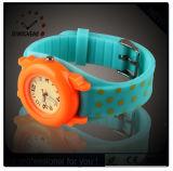 Reloj de pulsera de dibujos animados, Cuarzo Kid Watch Relojes de caucho de silicona (DC-257)