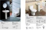 Precio determinado del tazón de fuente de tocador de Siphonic de las mercancías del cuarto de baño público occidental sanitario chino del estilo