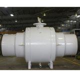 Valvola a sfera industriale completamente saldata con il tubo di transizione