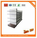 Estante del supermercado del metal con el panel trasero llano 08091