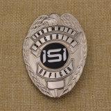 주문 연약한 사기질 경찰은 금속 접어젖힌 옷깃 Pin 기장의 명찰을 단다