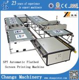 T-Shirt Garment/Clothing/Fabric/Non-Woven/Plastic Film/Leather/Shoes Vamp/Slipper/Oxford Clothing를 위한 자동적인 Flat Bed Screen Printing Machine