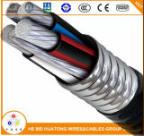 Тип МС три провода W/алюминиевая броня Xhhw-2 600V
