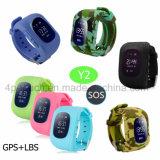 Sos Crianças Anti-Lost Rastreador GPS assista com podômetro Y2