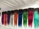 Chiusura grigia bionda superiore di seta del merletto di Ombre dei capelli liberi del Virgin del prodotto chimico