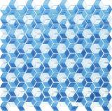 Mosaico hexagonal de cristal negro y gris para decoración