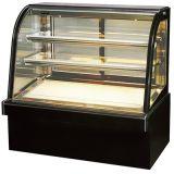 2 strati del forno della torta della pasticceria dell'alimento di esposizione del refrigeratore di vetro dritto dell'armadietto
