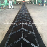 Bande de conveyeur en caoutchouc de Chevron pour le matériau en bloc