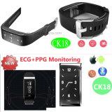 Франтовской браслет с монитором тарифа сердца и монитором кровяного давления (CK18)