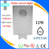 Luz de calle solar integrada del LED, toda en una lámpara con el Ce RoHS