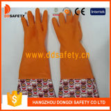 Ddsafety 2017 перчаток тумака PVC конструкции цветка латекса домочадца померанца работая