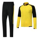 長袖の大人の通気性、乾燥すること容易帯電防止ジャケットのフットボールジャージー