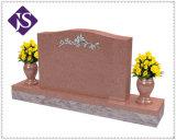 山西の金の天使および彫像との暗い花こう岩の墓碑及びMonuments&Headstone