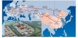 Железнодорожного грузового контейнера из расположения в Кыргызстане