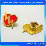 Red Heart Shape Volunteer Metal Clutch Clips