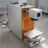 máquina de escritorio de la marca del laser de la fibra 20W