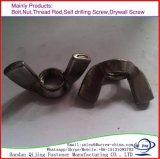 L'acier au carbone/304/316 fixations en acier inoxydable de la fabrication de l'écrou d'aile/écrou papillon