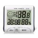 DC102 Digital de Temperatura do mostrador LCD grande relógio medidor de humidade Tester