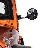 Black Quick Release Relocation Mirror para Jeep Wrangler Jk