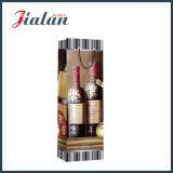 glatter lamellierter 128GSM Kunstdruckpapier-Wein-Flaschen-Geschenk-Papierbeutel