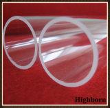 Tubo di lucidatura trasparente di vetro di quarzo del silicone fuso